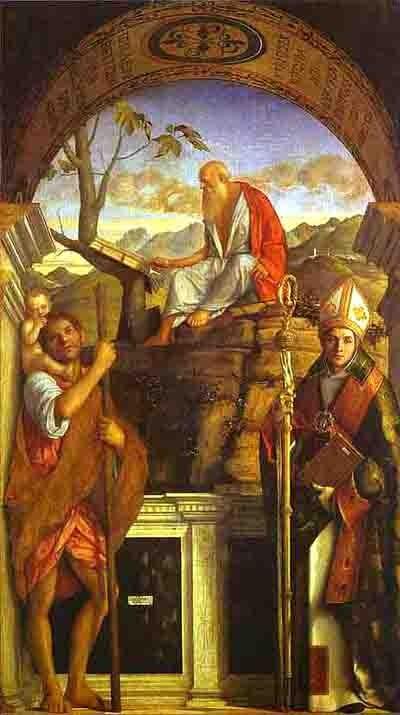 bellini giovanni -St Christophe St Jérôme et St Louis - San Giovanni Crisostomo 1513.blog.jpg