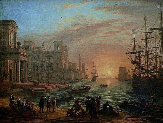 Le Lorrain - port de mer au crépuscule.jpg