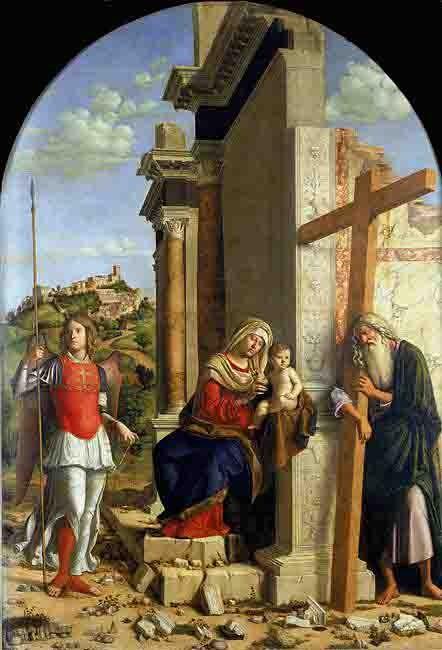 Cima da Conegliano (1459-1517) - Vierge à l'enfant entourée de St André et de St Michel - Parme.jpg