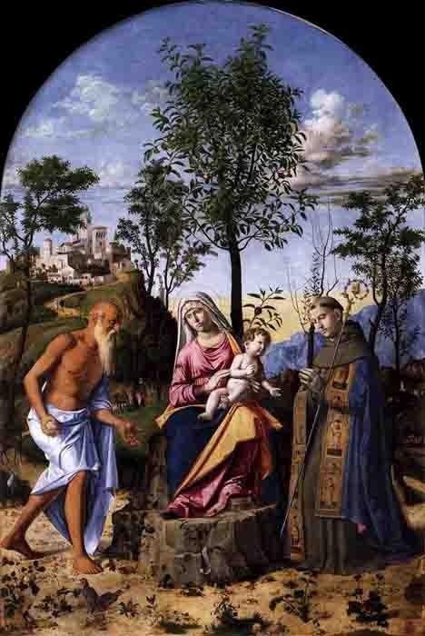 Cima da Conegliano - la madone  à l'oranger - 1495 -  galerie de l'Academia - Venise.jpg