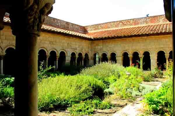 Elne - le jardin et galeries ouest et nord - 0868.JPG