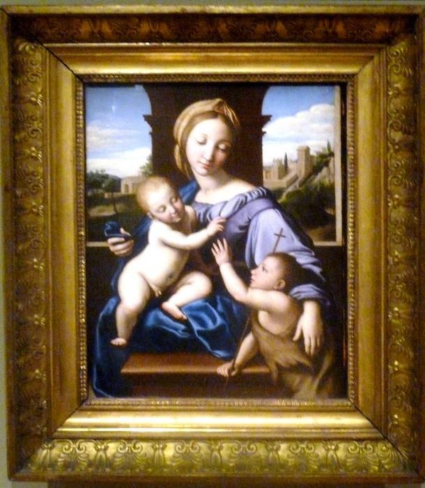 Sasoferratto (1609-1685)_La Vierge à l'enfant avec St Jean Baptiste_Le Louvre_P1060985.jpg