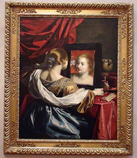 Régnier Nicolas (1590-1667) - jeune  femme à sa toilette 1626 - musée des Beaux Arts de Lyon.jpg