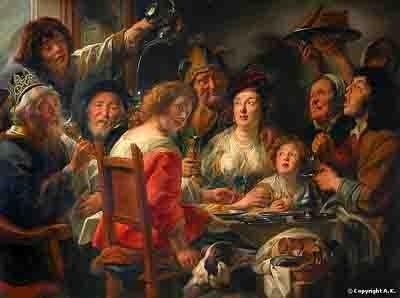 Jacob Jordaens - le roi boit (entre 1638 -1640) le Louvre copie.jpg