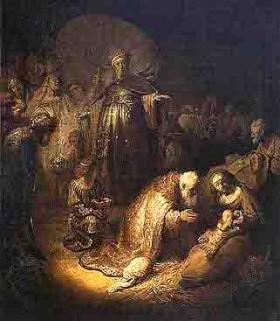 Rembrandt - 1606-1669 - l'adoration des mages (1632) musée de l'Ermitage St Pétersbourg.jpg