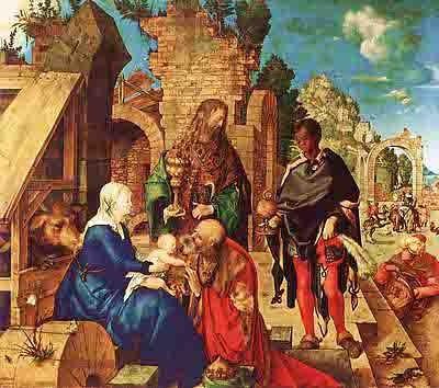 Dürer Albrecht (1471-1528) - l'adoration des rois mages (1504).jpg