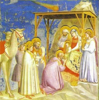 Giotto - l'adoration des rois mages (vers 1304) église de l'Arena à Padoue.jpg