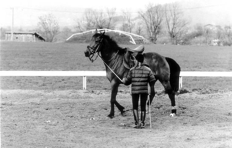 1987_Etrier Vellave-Elisabeth et Méfiant au travail.jpg