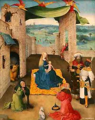 bosch Jérôme - l'adoration des mages (entre 1470 et 1475) Met de N -York. -2.jpg