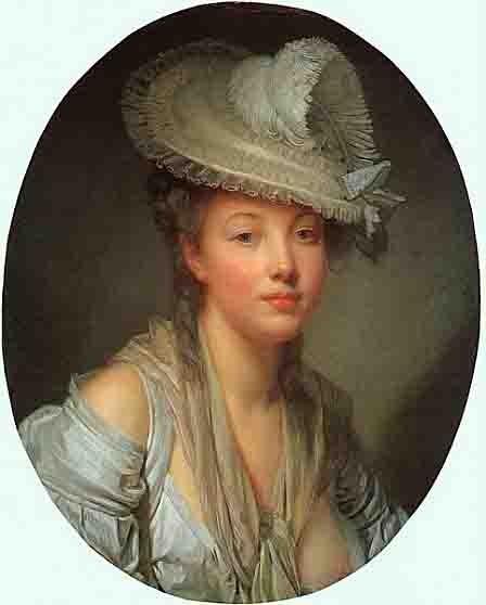 Greuze Jean Baptiste (1725-1805) - la jeune femme dans un chapeau blanc  -1780 - Boston museum of Arts.jpg