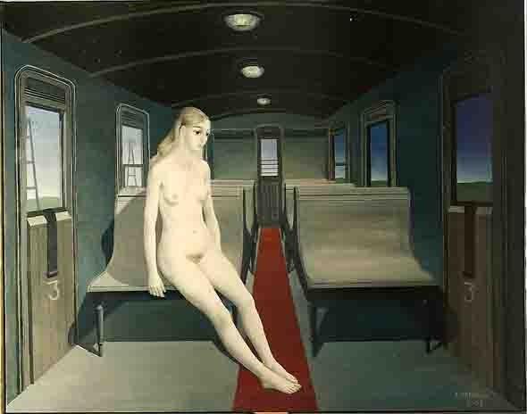 delvaux - femme nue dans un wagon.jpg