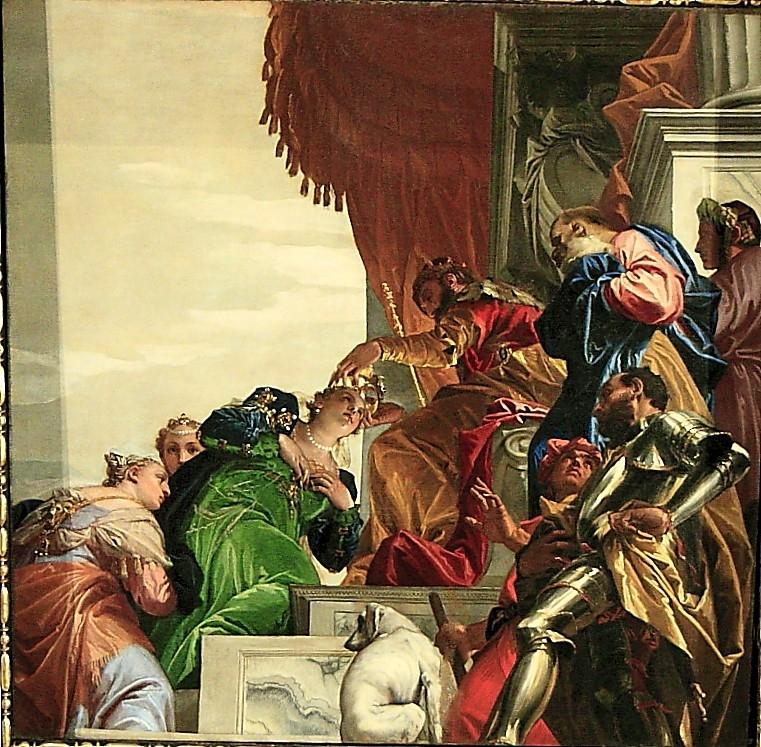 4905 - Véronèse - San Sebastiano --Esther couronnée par Assuérus -1556 -.JPG