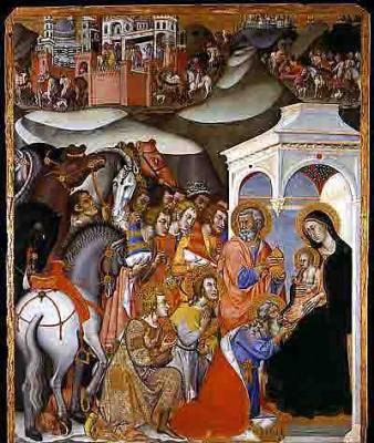 Bartolo di Fredi (1330-1410) - l'adoration des rois mages - 1380 pinacothèque de Sienne.jpg